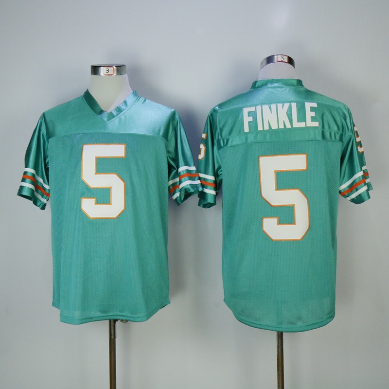 eb5f5dcf349 ACE VENTURA MOVIE RAY FINKLE MIAMI FOOTBALL JERSEY JIM CARREY SEWN ANY SIZE  Fan Apparel ...