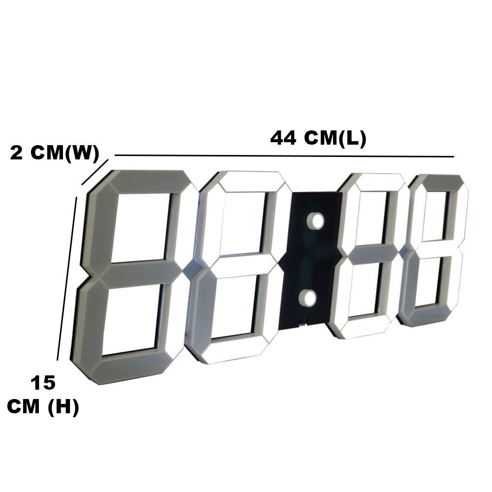 ¡ Promoción! 3 D Llevó Reloj de Pared Moderno Diseño Temperatura Show Time On la Pared En La Sala de estar Reloj Paredpara la Decoración Casera-in Relojes de pared from Hogar y Mascotas    3