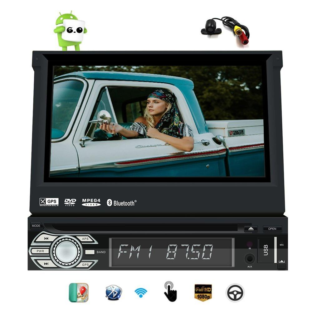 android 6 0 1din touchscreen car stereo gps navigation. Black Bedroom Furniture Sets. Home Design Ideas