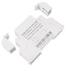 Single Phase Din Rail LCD Digital Display Electricity Power Consumption Energy Watt Meter Wattmeter kWh 5-32A AC 220V 50Hz