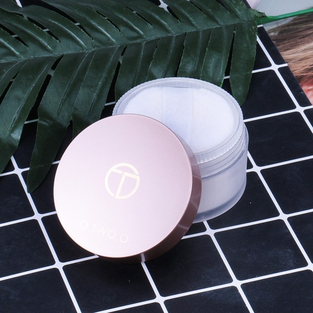 O.TWO.O Smooth Loose Powder Matt Makeup Transparent Finishing Powder Waterproof Cosmetic Puff For Face Finish Setting With Puff 6