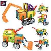78 Pcs Magnetic Designer Engineering Series Model Building Toy Plastic Educational Magnetic Blocks Toys For Kids