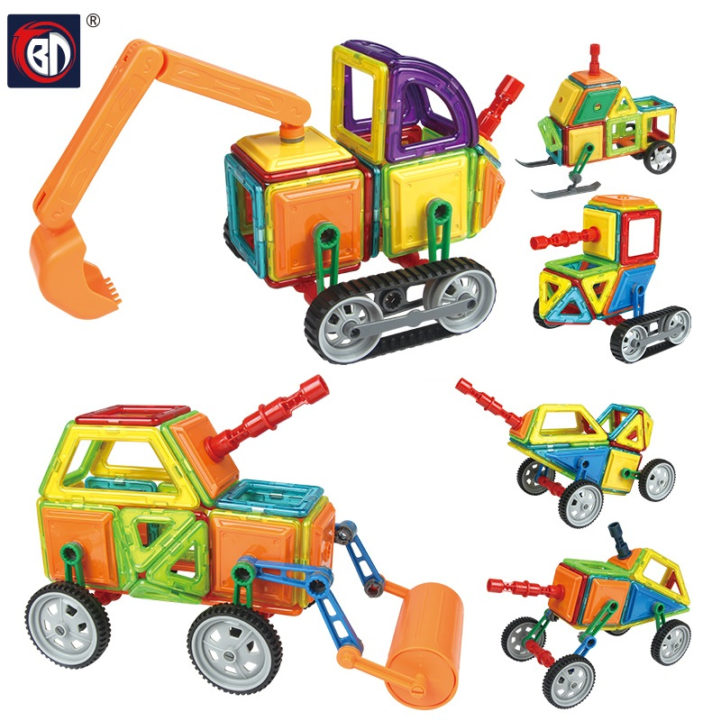 BD 78 pcs Magnetic Building Block  Designer Engineering  Model & Building Toy Plastic Educational Magnetic Blocks Toys For Kids 81pcs set assemblled gear block montessori educational toy plastic building blocks toy for children fun block board game toy