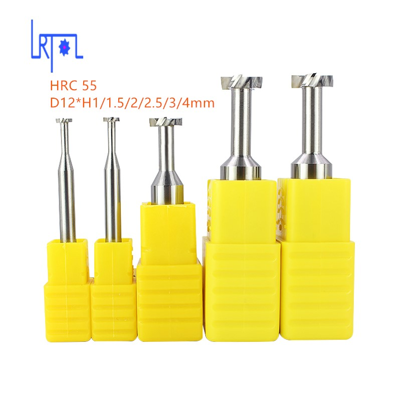 solid carbide HRC55 D12*H 1 1.5 2 2.5 3 4 5mm T slot milling cutter ,end mill for cnc machine carbide tipped t slot cutter welding carbide t cutter welded carbide t cutter 32mm x 4 5 6 8 10 12 14mm