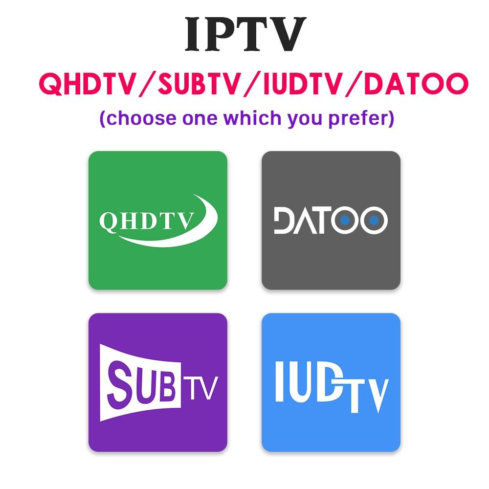 IPTV France italie grec arabe IPTV pour Android TV Box QHDTV SUBTV IUDTV DATOO 1 an IPTV Code italien français IP TV Portugal