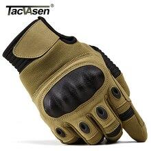 TACVASEN gants tactiques militaires pour hommes, gants de Combat dairsoft Army, durs, enfoncés à doigts complets pour moto, écran tactile