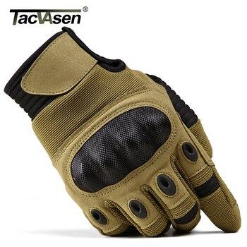 TACVASEN wojskowe rękawice taktyczne mężczyźni Airsoft armia rękawice bojowe twarde Knuckle pełna Finger rękawice motocyklowe polowanie ekran dotykowy