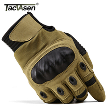 Тактические перчатки TACVASEN для мужчин, Военные боевые митенки в стиле милитари для страйкбола, с твердыми костяшками, с закрытыми пальцами, для мотоциклистов и охоты, с сенсорным экраном