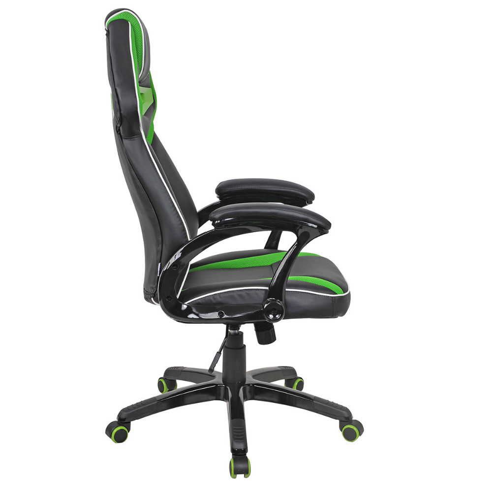 Racing Bucket Seat Office Chair High Back Gaming Chair Desk Task Ergonomic New HW54987GN 240340 high quality back pillow office chair 3d handrail function computer household ergonomic chair 360 degree rotating seat