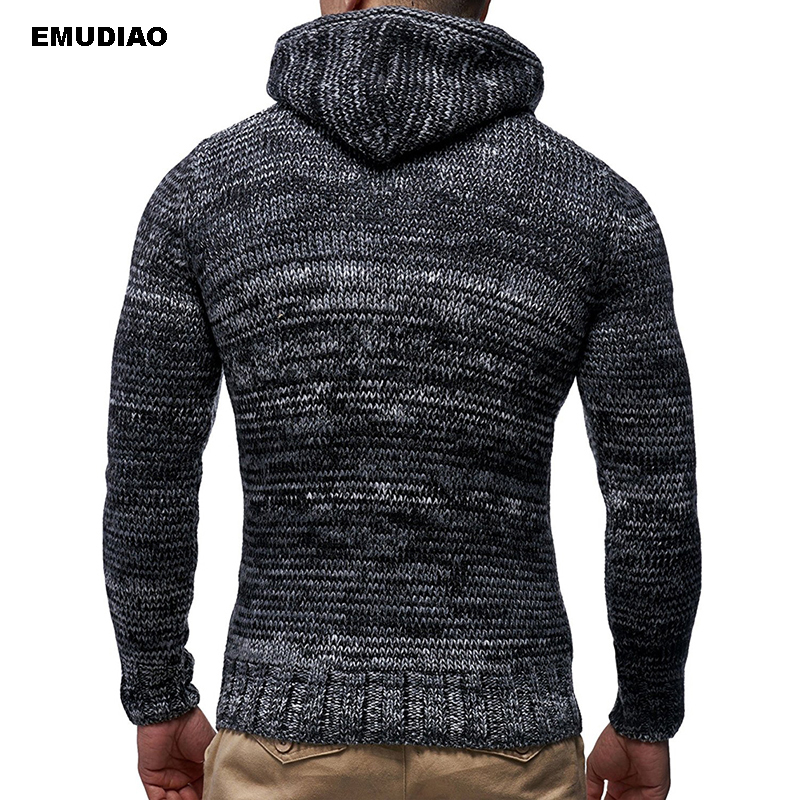 Autumn Winter Men's Hooded Sweaters Male Sweater Jumper Men Fashion Casual Slim Mens Sweaters 2019 Basic Knitwear Clothes XXXL