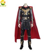 Film Thor Karanlık Dünya Cosplay Kostüm Superhero Thor Cosplay Cadılar Bayramı Kostüm Yelek Üst Pelerin Pantolon Custom Made