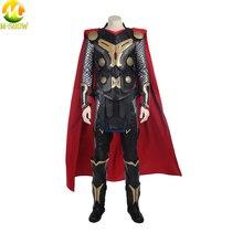 Movie Thor The Dark World Cosplay Costume Superhero Halloween Vest Top Cloak Pants Custom Made