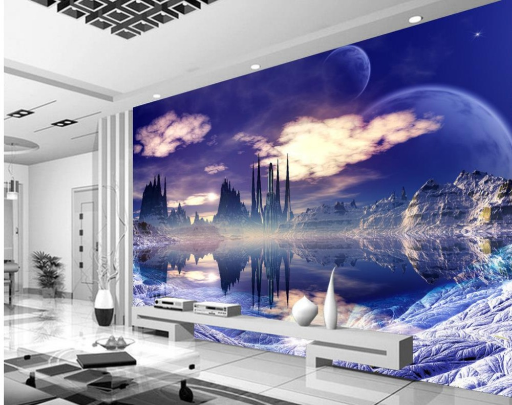 Custom Photo Wallpaper 3D Dream Sky City Customized