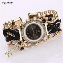 Fashion Women's Watch Ladies Braided Band Rhinestone Analog Quartz Wrist Watches Bracelet Watch Free Shipping,Mar 21