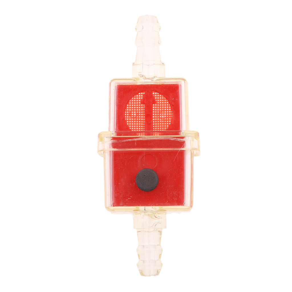 10pce Universal Petrol Inline Fuel Filter LARGE Car Part Fit 6mm Pipes Red High-Quality Fuel Filter
