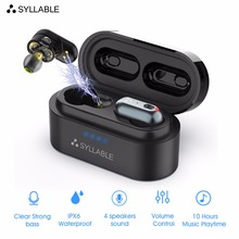 SYLLABLE S101 TWS 4 Speakers Sound Bluetooth Earphones of QCC3020 chip Earbuds Strong bass sport Headset S101 Noise Cancelling