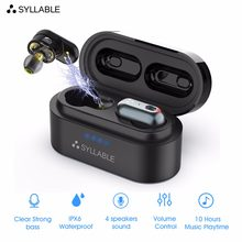 SYLLABLE S101 TWS 4 Speakers Sound Bluetooth Earphones of QCC3020 chip Earbuds Strong bass sport Headset S101 Noise Cancelling(China)