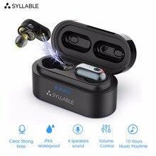 Sylaba S101 TWS 4 głośniki dźwięk słuchawki Bluetooth z QCC3020 chip słuchawki silny bas sportowy zestaw słuchawkowy S101 redukcja szumów
