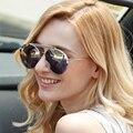 2016 nova moda feminina óculos de sol de luxo twin-vigas ligas projeto do frame marca retro mulheres óculos de sol polaroid oculos de sol