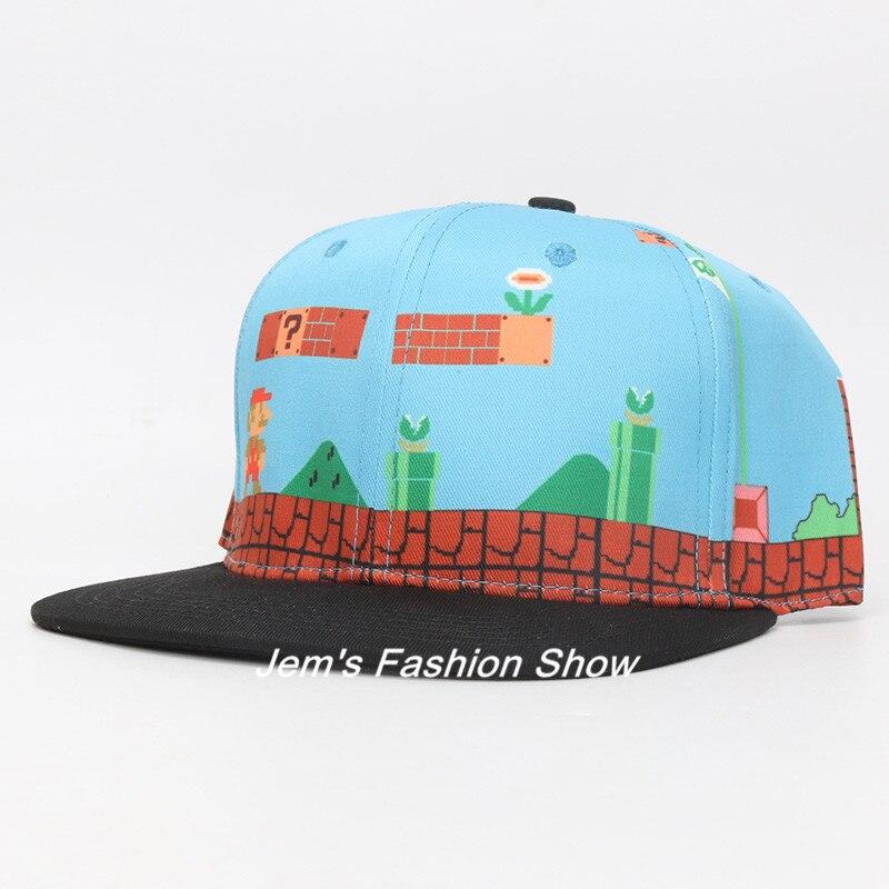 095c23d8f0d Super Mario Bros Hats Mario Luigi Yoshi Snapback Baseball Caps Cartoon  Adult Casual Summer Sun Hats Couple Hip Hop Caps-in Baseball Caps from  Men s Clothing ...