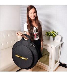"""Image 2 - プロフェッショナルポータブル肩バックパックは負荷 4 個 20 """"デラックスシンバルバッグキャリングケースドラムシンバル楽器ギグ黒"""