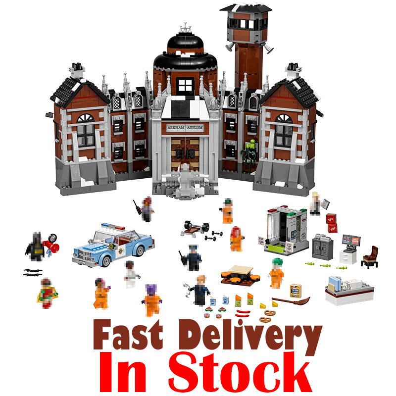 Lepin 07055 Marvel Super Heroes Batman Movie 1743Pcs Arkham Asylum Building Blocks Bricks hot fun Toys for children 70912 lepin 07056 775pcs super heroes movie blocks the scuttler toys for children building blocks compatible legoe batman 70908