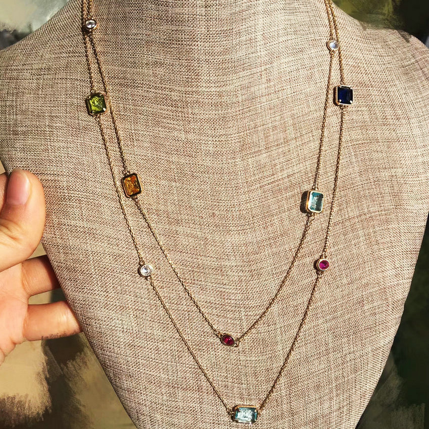 SINZRY Luxury 104cm Long crystal sweater necklaces geometry shinning crystal dress costume jewelry accessory Ожерелье