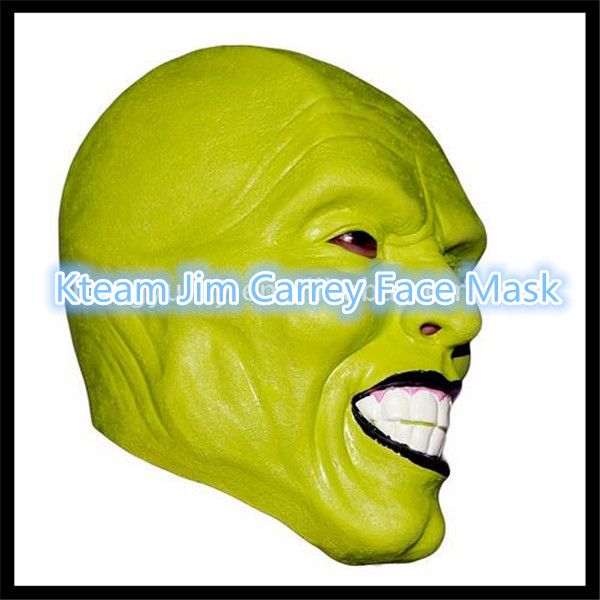 Top Grade 100% Latex Halloween Party Cosplay Latex Mask Jim Carrey Costume Fancy Dress Famous Movie Film Props 'The Mask' Toys image