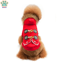 Winter Thickening Cotton Dog Clothes Horn Button Warm Dog Coats Jackets Costume For Small Dogs Pet