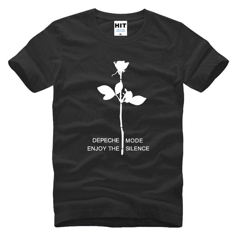 Depeche Mode Enjoy The Silence Electronic Music Mens Men   T     Shirt   Tshirt Fashion 2016 New Cotton   T  -  shirt   Tee Camisetas Hombre