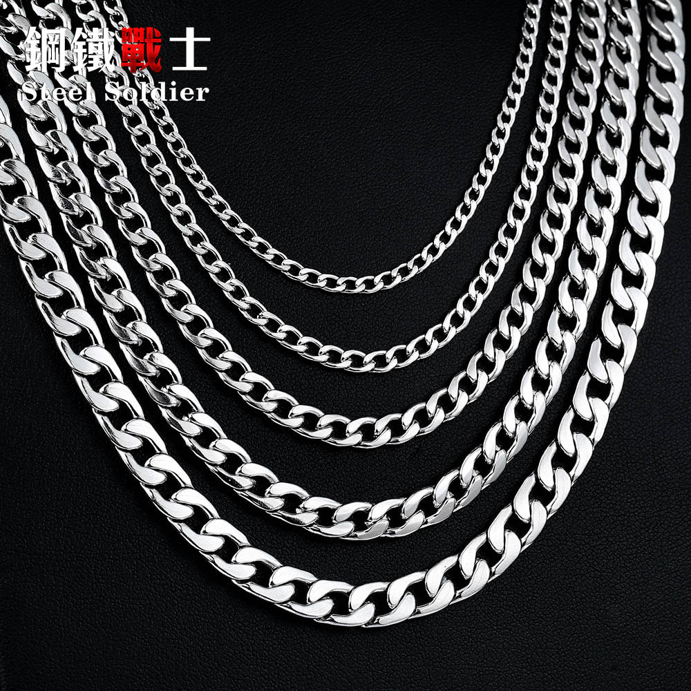 steel soldier retail & Wholesale Water Wave Chain Necklace for Man Woman Stainless Steel Cheap and Super Quality men beaded bracelet red