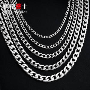 steel soldier Chain Necklace for Man Woman Stainless Steel