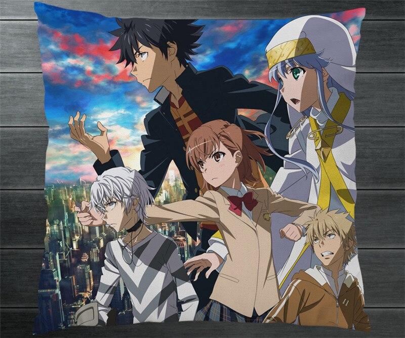 Anime Een Bepaalde Magical Index Toaru Majutsu Geen Indekkusu Twee Side Kussenslopen Kussen Case Cover Manga Cosplay Gift P1