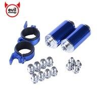 Universal Aluminum High Flow Fuel Inline Petrol Filter Racing Fuel Filter AN10 AN8 AN6 Adapter Fittings