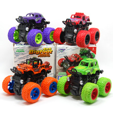 Bigfoot car model kids toys Inertial four-wheel drive suspension Simulated toy Stunt swing 360 deg rotation general mobilization