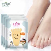 ISILANDON Milk Nourish Exfoliating Foot Mask Whitening Smooth Calluses Pedicure Sosu Socks Peeling Feet Mask Foot Skin Care