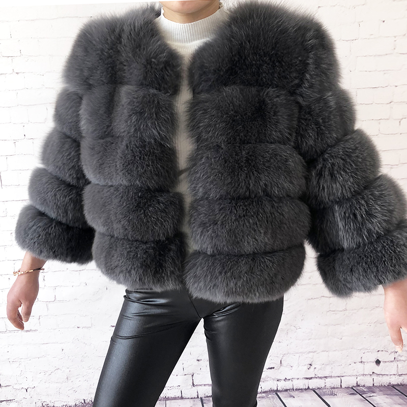 2019 new style real fur coat 100% natural fur jacket female winter warm leather fox fur coat high quality fur vest Free shipping 129