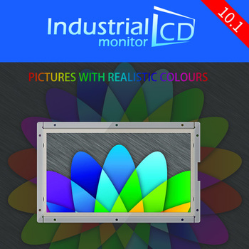 M101A-OF/ Faismars Industial 10.1 inch widescreen monitor with multi-interface 10.1 inch 1024*600 industrial LCD monitors