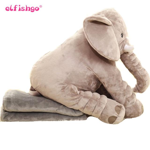 Elephant Soft Pillow Plush Toy Elephant With Blanket 2 In 1 Plush