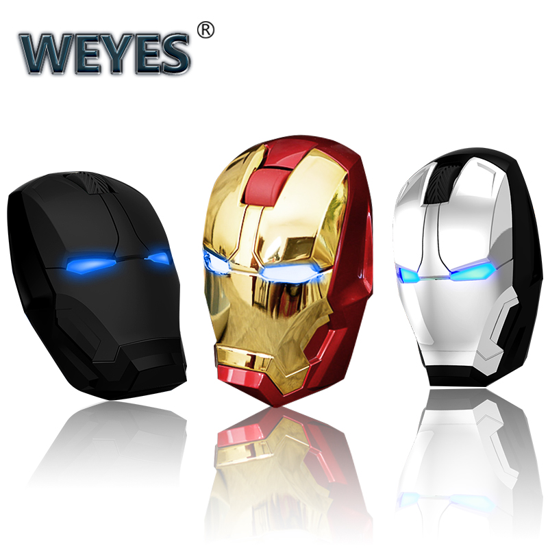 Iron Man Mouse Wireless Mouse Gaming Mouse Gamer Computer Mice Button Silent Click 800/1200/1600/2400DPI Adjustable computerIron Man Mouse Wireless Mouse Gaming Mouse Gamer Computer Mice Button Silent Click 800/1200/1600/2400DPI Adjustable computer