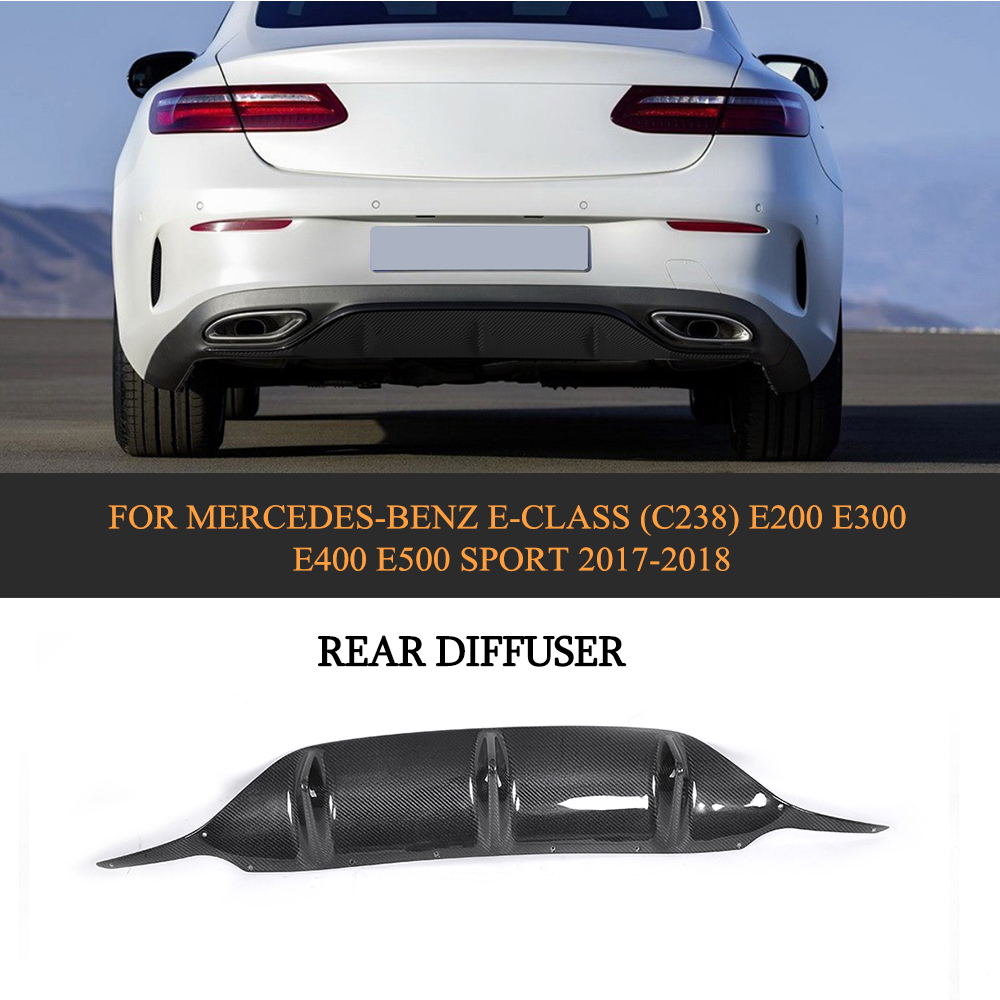 Carbon Fiber Rear Lip Spoiler Wing Fit For Benz E-Class E500 E400 E200 2017-2018