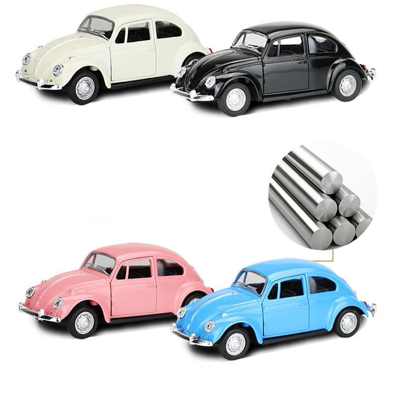 1:32 For Beetle Classic Car Model Collection Simulation Car Alloy Diecast Pull Back Simulation Retro Toys
