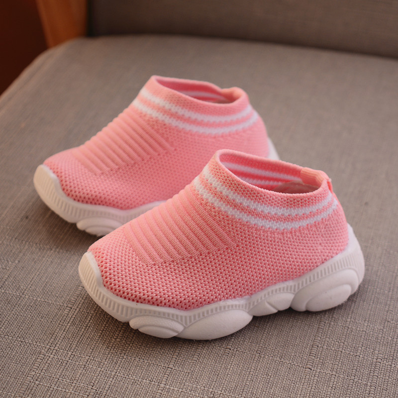 New Spring Baby Casual Children Shoes Fashionable Net Breathable Soft Sports Walking Shoes