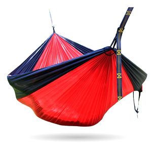 Image 4 - Single Double Hammock Adult Outdoor Backpacking Travel Survival Hunting Sleeping Bed Portable With 2 Straps 2 Hammock Carabiner