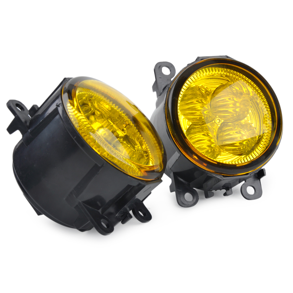 beler 2pcs Highlighted LED Fog Light Lamp with Yellow Lens Replacement 33900-T0A-A01 for Ford Focus Acura Honda Subaru Nissan beler fog light lamp h11 female adapter wiring harness sockets wire connector for ford focus fiesta acura nissan honda subaru