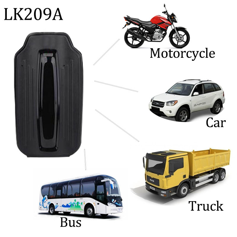 Car GPS Tracker GPS Locator LK209A Strong Magnet 6000mAh Standby 70 Days GSM GPRS Realtime Tracking