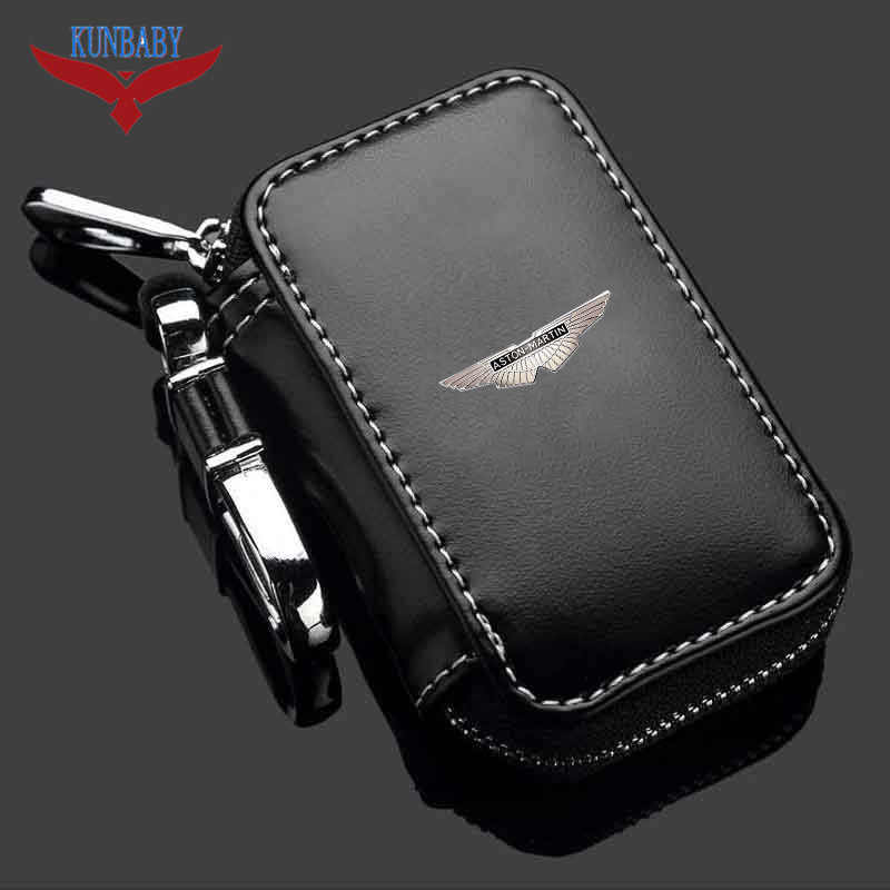 1X Genuine Leather Car Key Cover Holder Key Fob Case Shell Bag Universal For Car