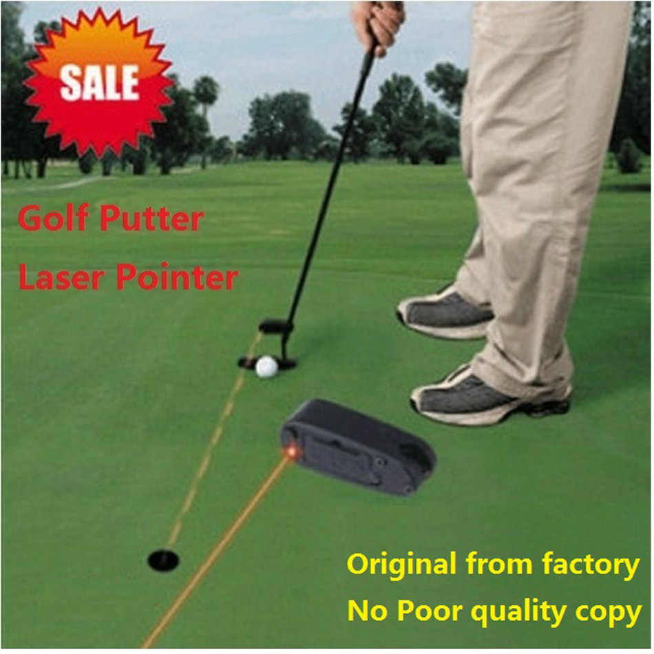 2018 New Golf Putter Laser Training Golf Practice Aid Mini Swing Trainer Golf Putting Aim Line Corrector Putting Laser Sight Aid