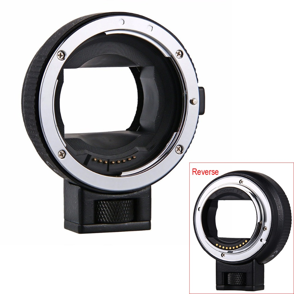 EF-NEX Adaptateur Auto Focus Lens pour Canon EOS EF EF-S Objectif à Sony NEX E Plein Cadre A7 A7II A7R A7SII A6000 A6300 A6500 NEX-7/6/5