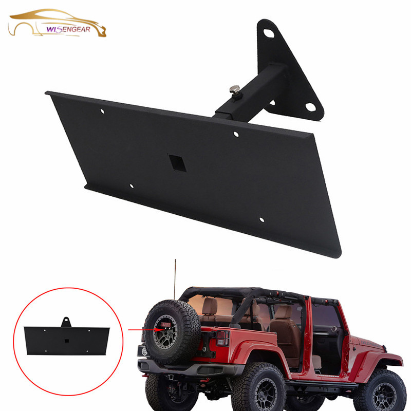 License Plate Holder Frame Rear License Plate Mounting Bracket for 2007-2017 Jeep Wrangler JK JKU